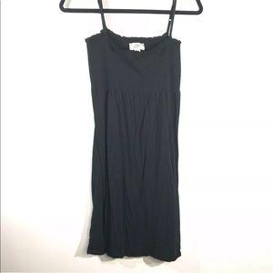 Loft Size Medium Black Smocked Summer Dress
